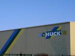 Werbungsapplikation Fassade Huck in Heidenau
